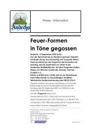 Feuer-Formen in Töne gegossen - Kloster Andechs