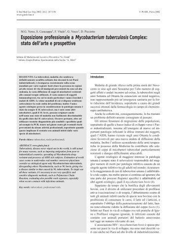 stato dell'arte e prospettive - Giornale Italiano di Medicina del ...