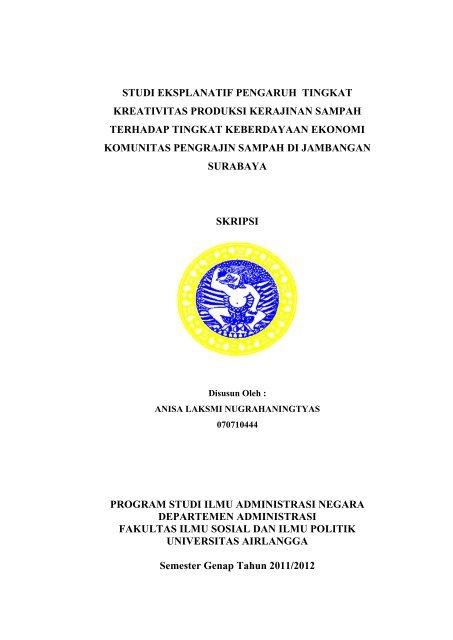 Skripsi Administrasi Publik Kuantitatif Pdf Ide Judul Skripsi Universitas