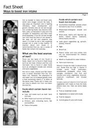 Fact Sheet - Kids Health @ CHW