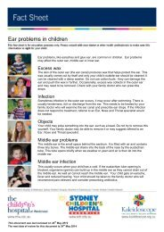 Ear Problems In Children PDF - Kids Health @ CHW