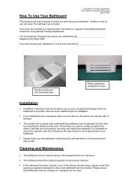 Use of Bathboard - Kids Health @ CHW
