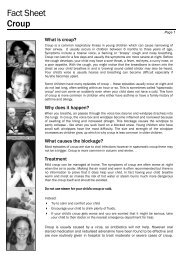Fact Sheet Croup - Kids Health @ CHW