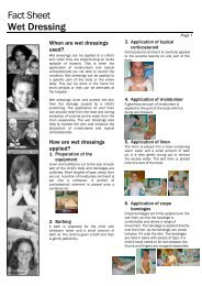 Fact Sheet Wet Dressing - Kids Health @ CHW
