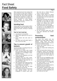 Fact Sheet Food Safety - Kids Health @ CHW