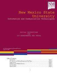 ICT - New Mexico State University