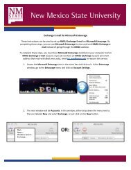 Exchange E-mail for Microsoft Entourage - ICT - New Mexico State ...