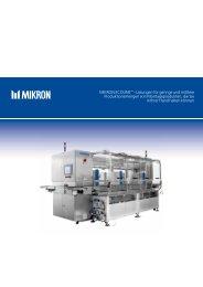 Mikron EcoLinE™ - Lösungen für geringe und mittlere ...