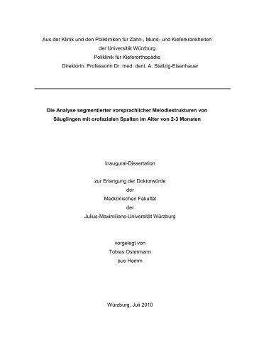 Die Analyse segmentierter vorsprachlicher Melodiestrukturen von ...