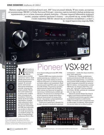 Pioneer VSX-921 - Audio