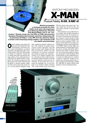 Musical Fidelity X-150, X-RAY v3 - Audio