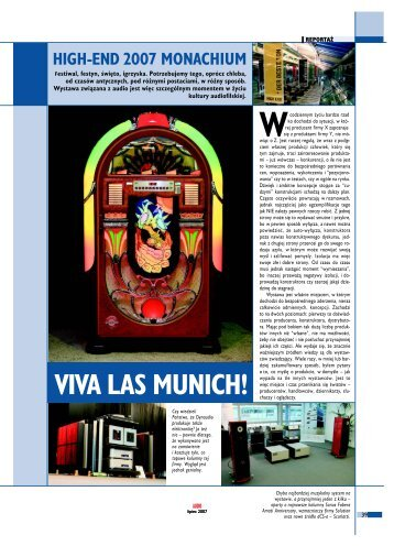 high-end 2007 monachium viva las munich! - Audio