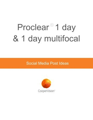 Proclear 1 day multifocal coupon