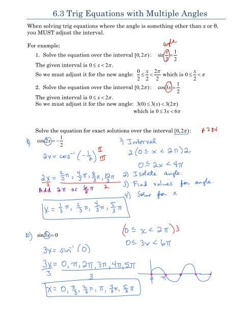 Trigonometric Equations Worksheet Kuta - Tessshebaylo