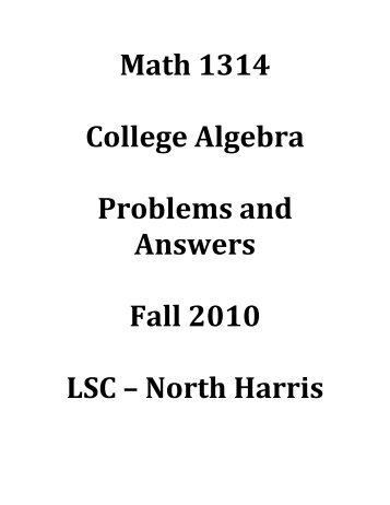 Math 24 challenge problems math 1314 college algebra problems and answers nhc math fandeluxe Choice Image