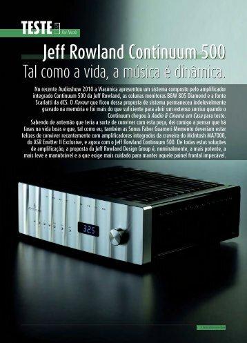 Jeff Rowland Continuum 500 Jeff Rowland Continuum 500