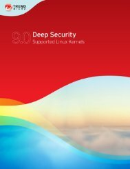 Deep Security 9 Supported Linux Kernels