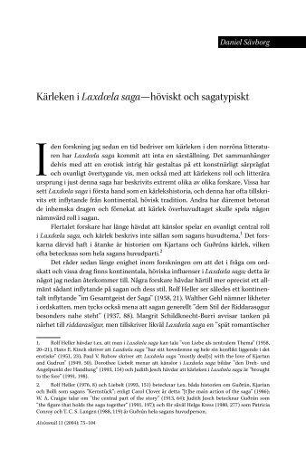 Kärleken i Laxdœla saga--höviskt och sagatypiskt - Userpage