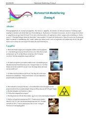 Matematisk Modellering Övning 4