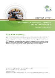 Executive summary MEETING REPORT - ECDC - Europa