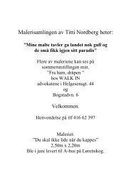 Malerisamlingen av Titti Nordberg heter: - Home