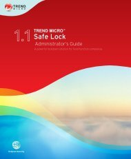 Safe Lock Documentation - Trend Micro? Online Help