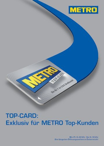 Top-Card: Exklusiv für Metro Top-Kunden