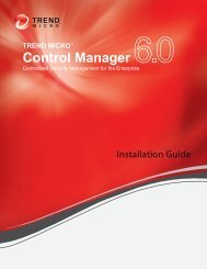 Control Manager Installation Guide - Trend Micro? Online Help