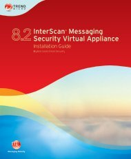 Trend Micro InterScan Messaging Security Virtual Appliance ...