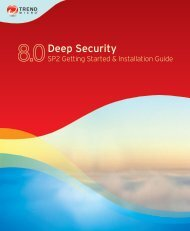 Trend Micro? Deep Security? Getting Started and Installation Guide