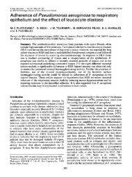 Adherence of Pseudornonas aeruginosa to respiratory epithelium ...