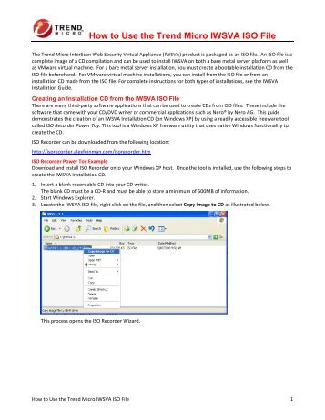 How to Use the Trend Micro IWSVA ISO File
