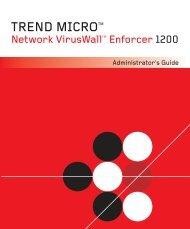 Network VirusWall Enforcer 1200 - Trend Micro? Online Help