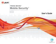 Trend Micro? Mobile Security 5.1 for Windows Mobile 5/6 User's ...