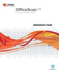 OfficeScan 10 Administrator's Guide - Online Help Home - Trend Micro