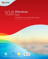 OfficeScan Documentation - Trend Micro? Online Help