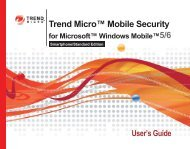 Installing Mobile Security - Online Help Home - Trend Micro