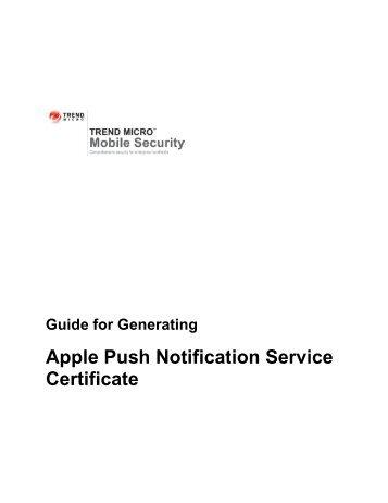 Apple Push Notification Service Certificate - Trend Micro