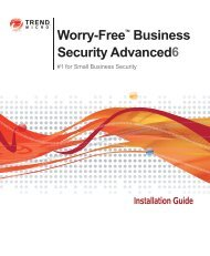 Trend Micro Worry-Free Business Security Advanced Installation ...