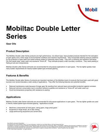 Mobiltac Double Letter (PDF) - Parsian Super Lubricants