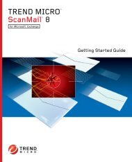 Trend Micro ScanMail for Microsoft Exchange Getting Started Guide