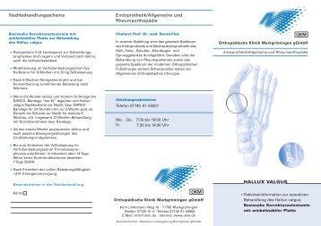 Endoprothetik/Allgemeine und Rheumaorthopädie HALLUX ...