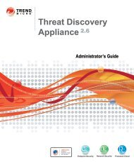 Trend Micro? Threat Discovery Appliance Administrator's Guide