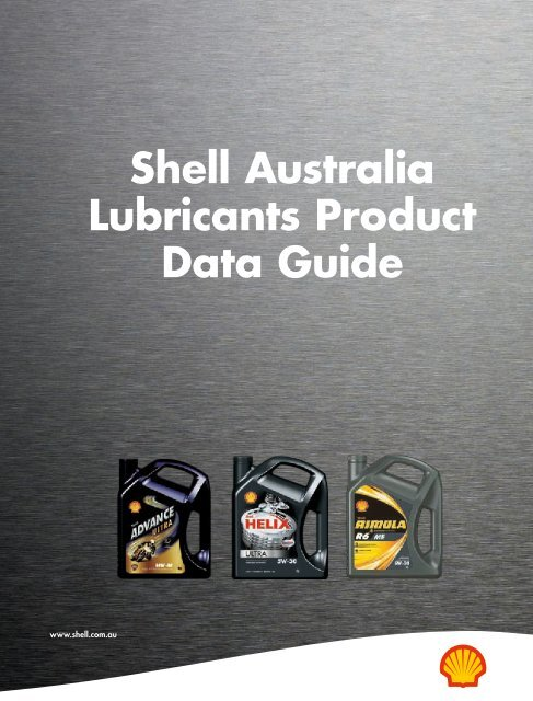 Shell Australia Lubricants Product Data Guide - Parsian
