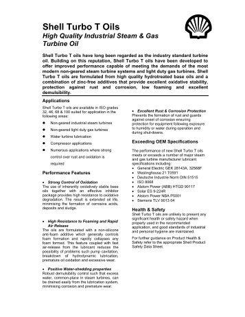 Shell Turbo T Oils - Parsian Super Lubricants