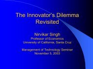 The Innovator's Dilemma Revisited - Courses - University of ...