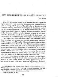 New considerations on Mamluk heraldry