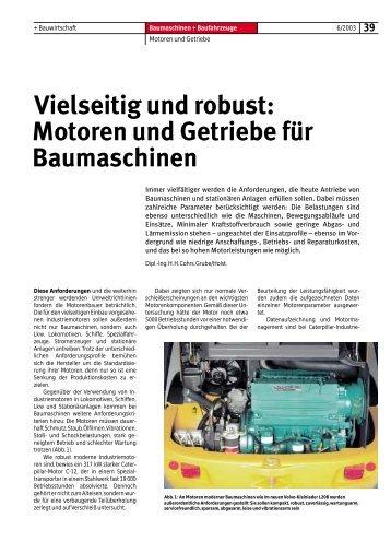 Motoren und Getriebe für Baumaschinen - Bauverlag