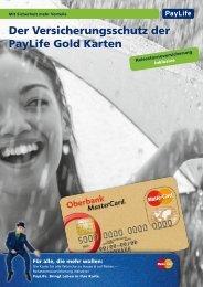 Der Versicherungsschutz der PayLife Gold Karten - Oberbank