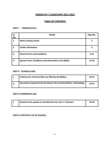 Tender Document for Providing of 500 I.T. Assistants in Govt ...